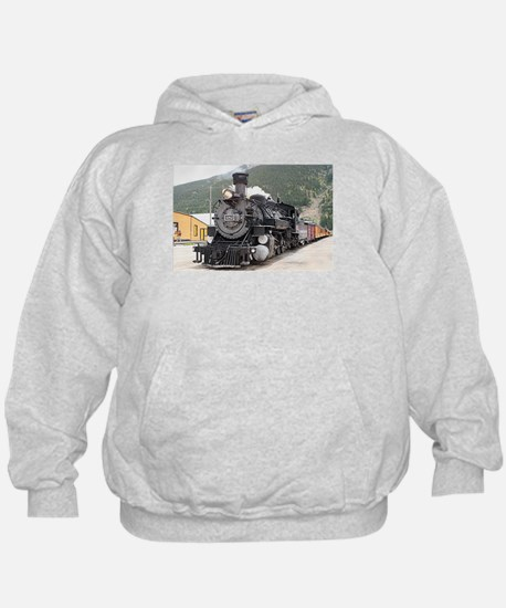 Steam train engine Silverton, Colorado Hoodie