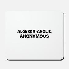 Algebra-Aholic Anonymous Mousepad