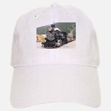 Steam train engine Silverton, Colorado, USA 8 Baseball Baseball Cap