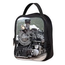 Steam train engine Silverton, C Neoprene Lunch Bag