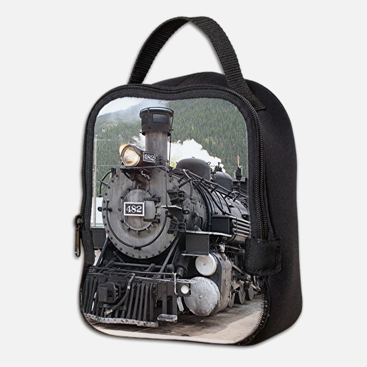 Steam train engine Silverton, C Neoprene Lunch Bag