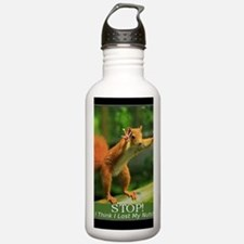 Squirrel Lost His Nuts Water Bottle