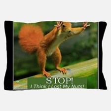 Squirrel Lost His Nuts Pillow Case
