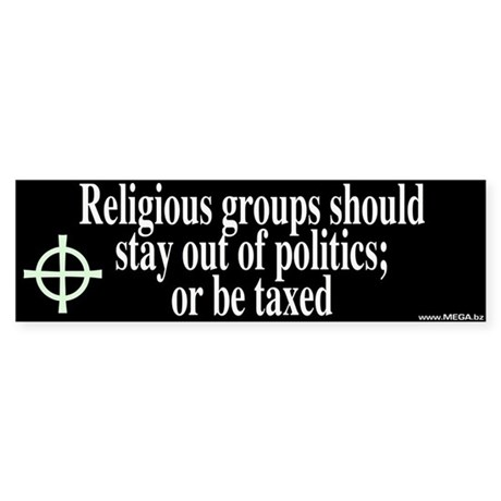 Religious Groups and Tax Bumper Sticker