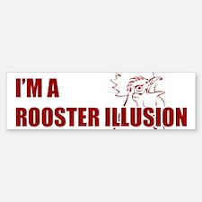 TROPICTHUNDER ROOSTER ILLUSION Bumper Bumper Sticker