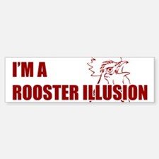 TROPICTHUNDER ROOSTER ILLUSION Sticker (Bumper)