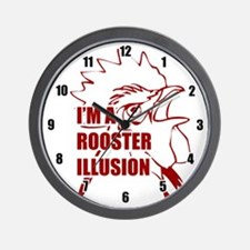 TROPICTHUNDER ROOSTER ILLUSION Wall Clock