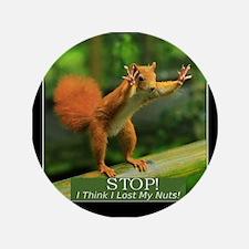 "Squirrel Lost His Nuts 3.5"" Button"