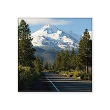 "Road to Mount Shasta Square Sticker 3"" x 3"""
