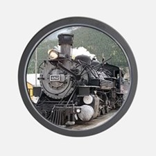 Steam train engine Silverton, Colorado, Wall Clock