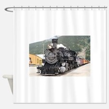 Steam train engine Silverton, Color Shower Curtain