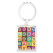 Pop Art Pi Keychains