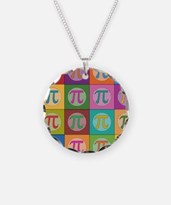 Pop Art Pi Necklace Circle Charm