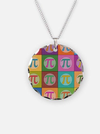 Pop Art Pi Necklace Circle Charm