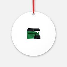 Garbage Dumpster Ornament (Round)