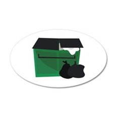 Garbage Dumpster Wall Decal