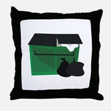 Garbage Dumpster Throw Pillow