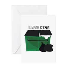 Dumpster Dive Greeting Cards