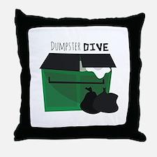 Dumpster Dive Throw Pillow