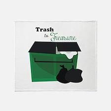 Trash To Treasure Throw Blanket