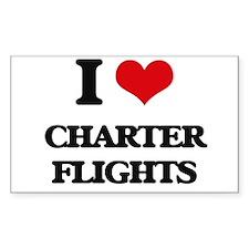 I love Charter Flights Decal