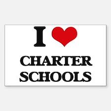 I love Charter Schools Decal