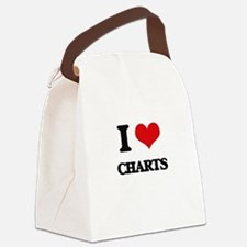 I love Charts Canvas Lunch Bag