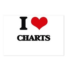 I love Charts Postcards (Package of 8)