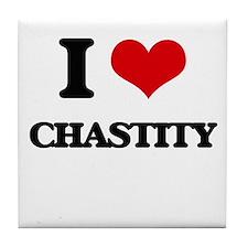 I love Chastity Tile Coaster