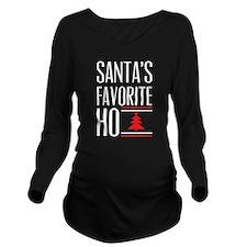 Santa's Favorite Long Sleeve Maternity T-Shirt