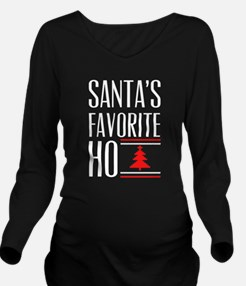 Santa's Favorite Long Sleeve Maternity T-Shirt