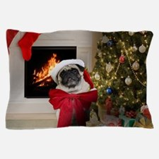 Misha's Pug Christmas Pillow Case