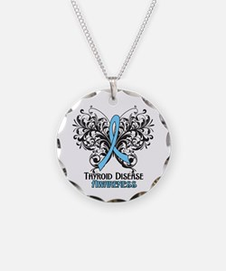 Thyroid Disease Necklace Circle Charm