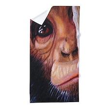 Chimpanzee Shy Beach Towel