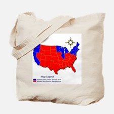 United States Map on a Tote Bag