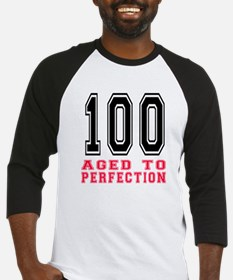 100 Aged To Perfection Birthday De Baseball Jersey