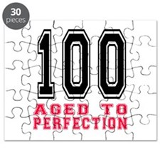 100 Aged To Perfection Birthday Designs Puzzle