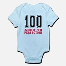 100 Aged To Perfection Birthday De Infant Bodysuit