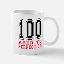 100 Aged To Perfection Birthday Designs Mug