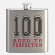 100 Aged To Perfection Birthday Designs Flask