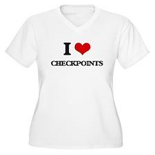 I love Checkpoints Plus Size T-Shirt