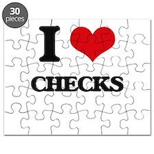 I love Checks Puzzle