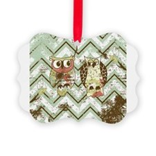 Chevron Owls #1 Ornament