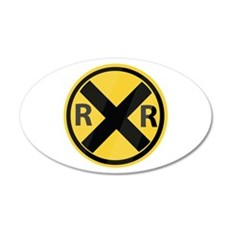 RR Crossing Wall Decal