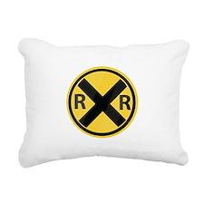 RR Crossing Rectangular Canvas Pillow