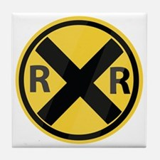 RR Crossing Tile Coaster