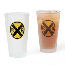 RR Crossing Drinking Glass