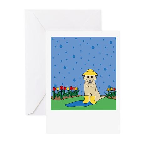 Spring Yellow Lab Greeting Cards