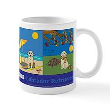 A Dog for All Seasons, Yellow Lab Mug