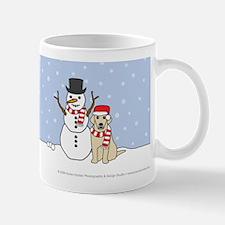 Yellow Labrador Retriever Let It Snow Mug